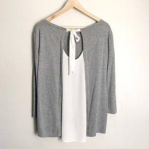🆕 Listing!  LOFT | Grey Split Back Sweater